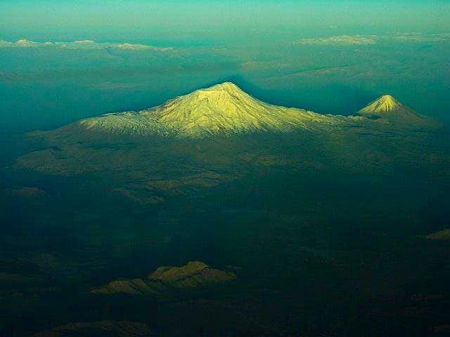 Ararat at sunset