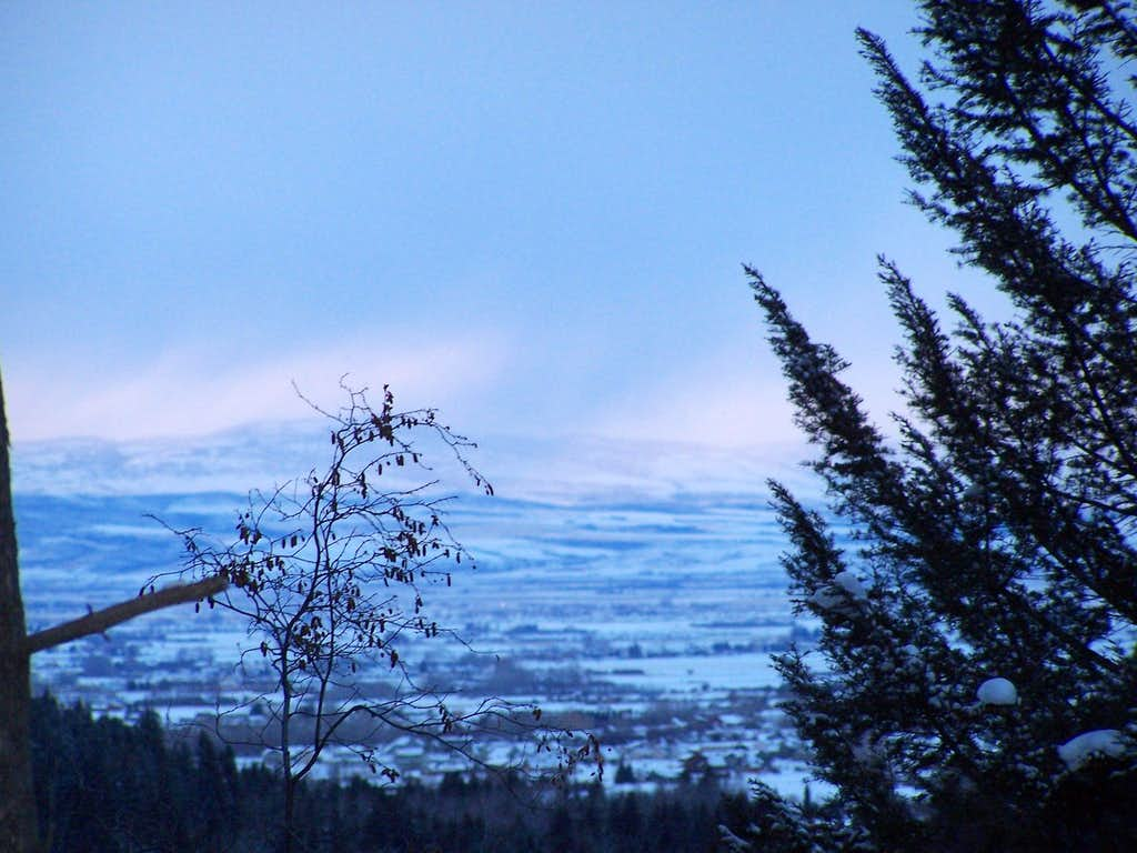 Looking Back to the Bozeman Valley and