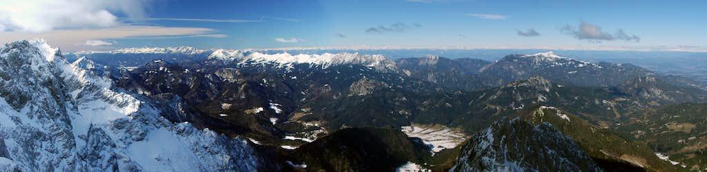 Kriz summit west panorama