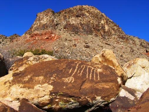 Native American glyphs and Windy Peak