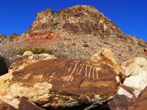 Native American glyphs and Windy Peak