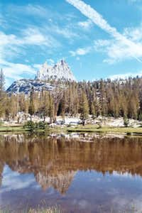 Cathedral Peak reflection in...