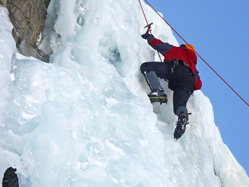 Ice Climbing @ Lincoln Falls