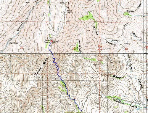 SE Rib Topo Route