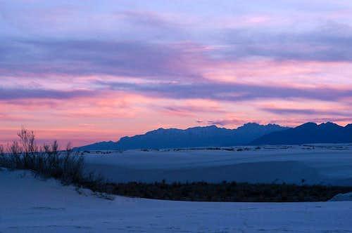 Organs Mountains at Sunset