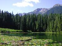 Elk Lake on the approch.
