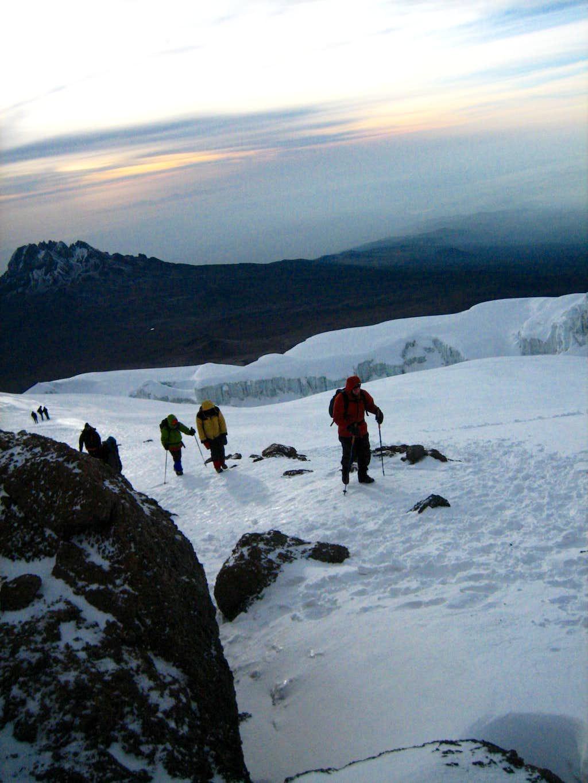 Aproaching the summit of Uhuru Peak