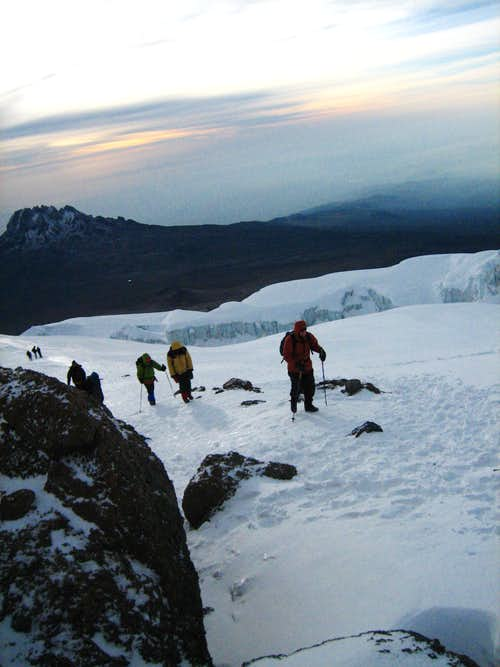 Aproaching the summit of Uhuru Peak