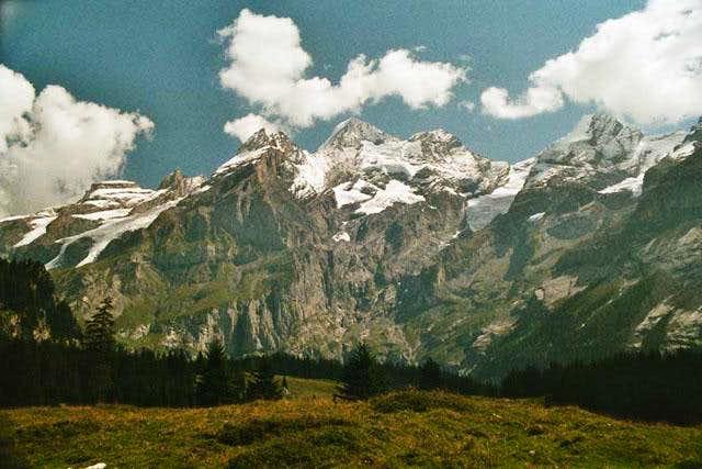 The massif of Blüemlisalp...