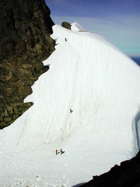 Final approach to the summit...
