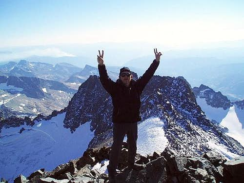 Zafer on Ritter\'s summit