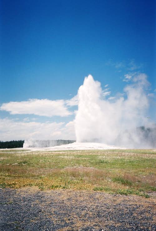 Rare Double Geyser Eruption
