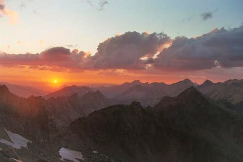 Sunset over Kings Canyon from...