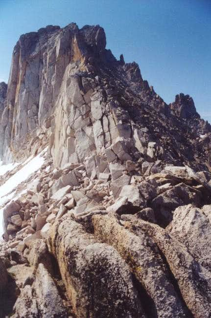 Final ascent of Tower Peak