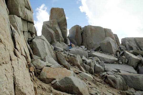 North Face route: The summit...