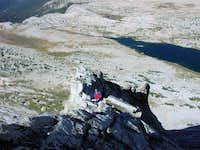 On the ridge.