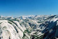View from summit up Tenaya Canyon