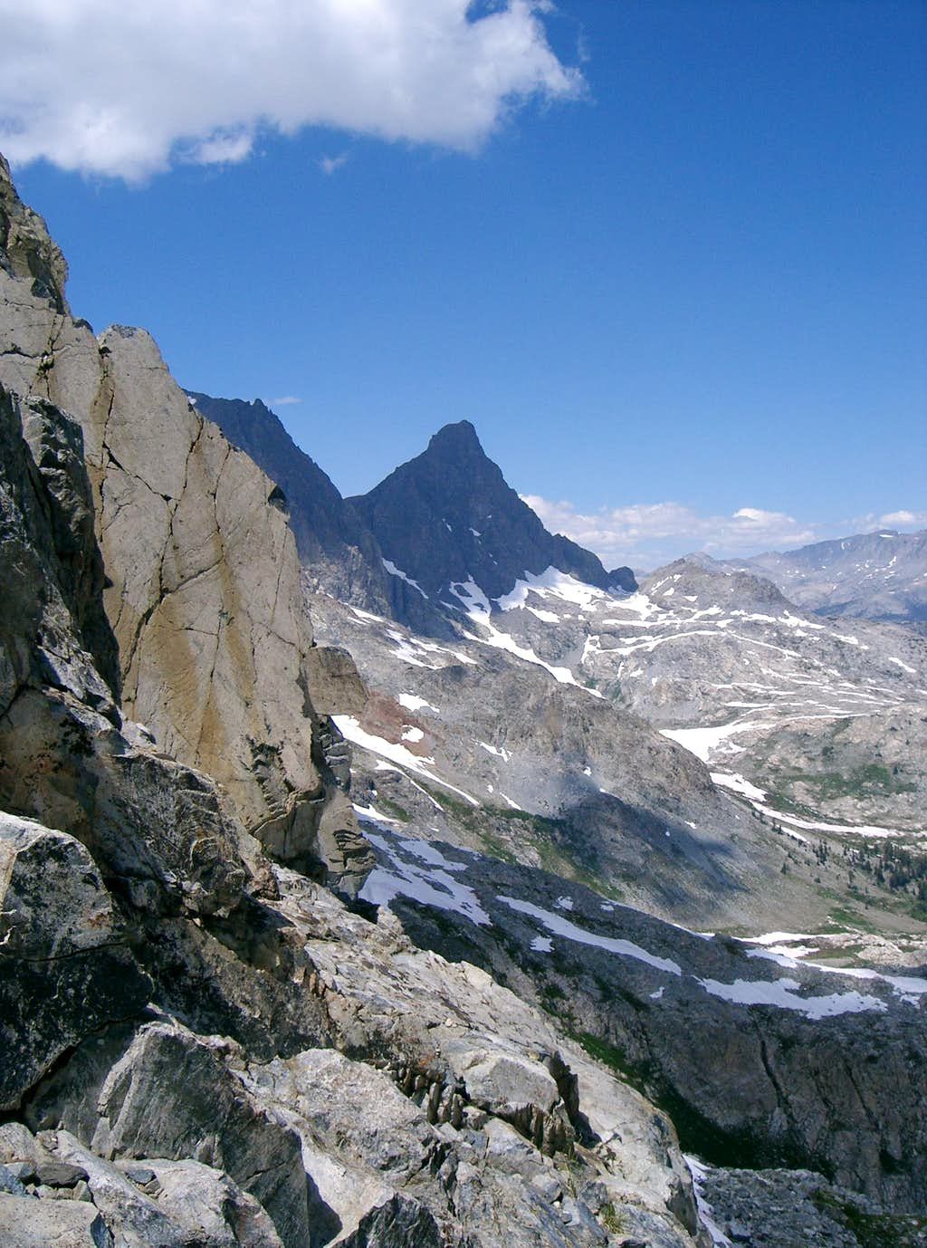 Banner Peak from Rock Route on Clyde Minaret.