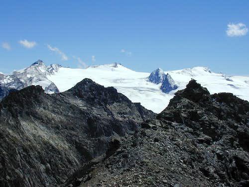 Rutor massif from Mont Colmet N