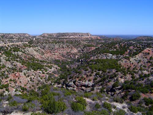 Rugged canyons...