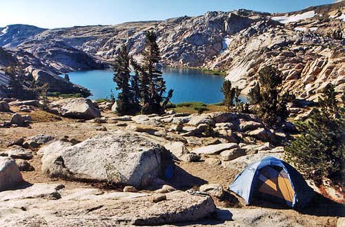 Campsite, Upper Lewis Lake