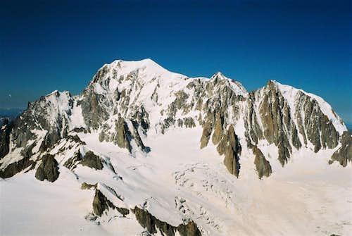 Panoramic view of Mont Blanc