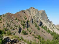 Cowhorn Mountain from near the spot where the climbers trail starts off the PCT