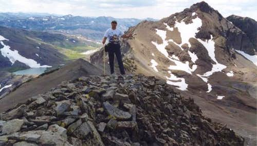 Summit of Kennedy Peak, with...