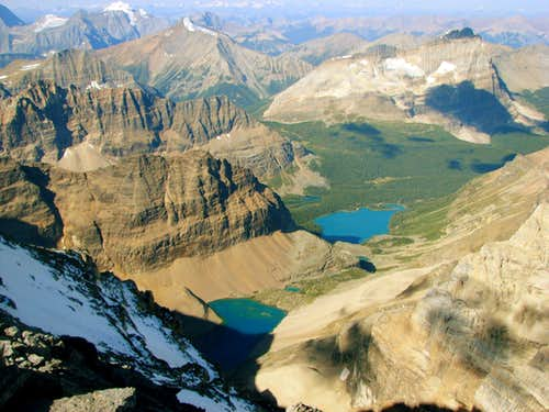 Lake O\'Hara from Summit of Lefroy
