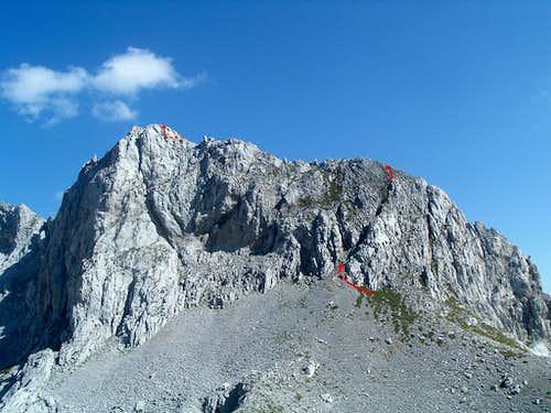 Final part of the route to Qatat e Verlla