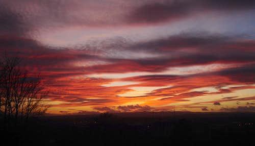 Late evening sunset...