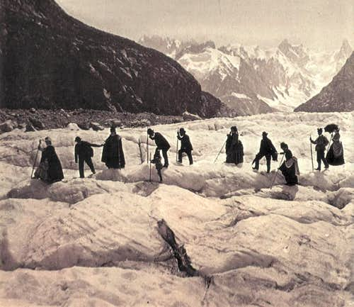 On the glacier