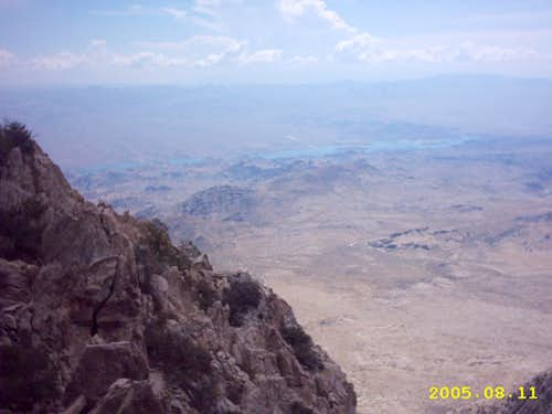 Lake Mohave from Spirit Mountain