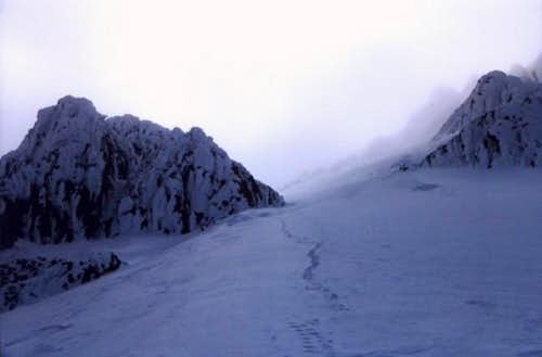 Sandy Glacier Headwall Route...