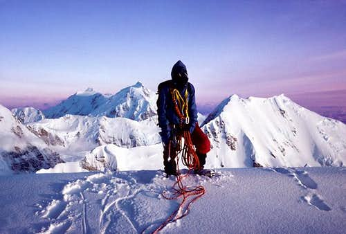 14,000 Foot Ice Dome on the West Rib, Mount McKinley