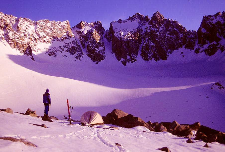 Alpenglow on the Palisade Glacier, June 1994