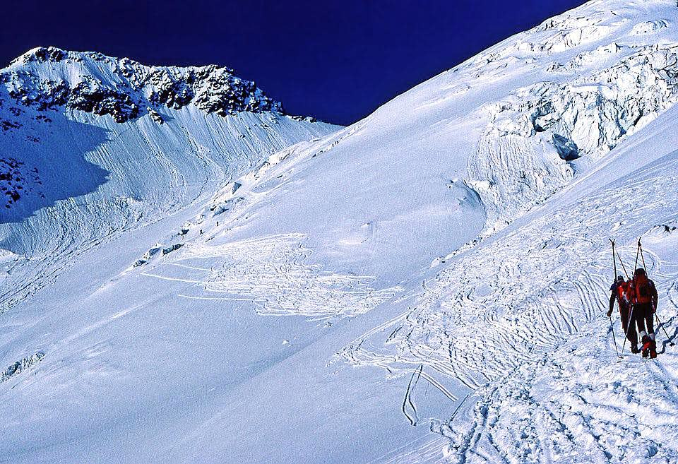 On a ski tour on Hoffmannskees