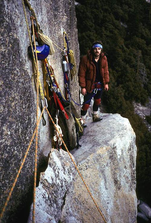 Bill Crouse on Anchorage Ledge