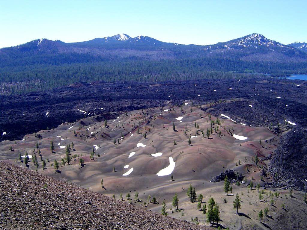 Cinder Cone lava flows