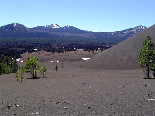 Cinder Cone volcanic features