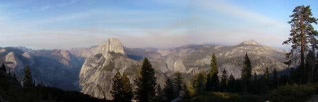 Panoramic view of Yosemite...