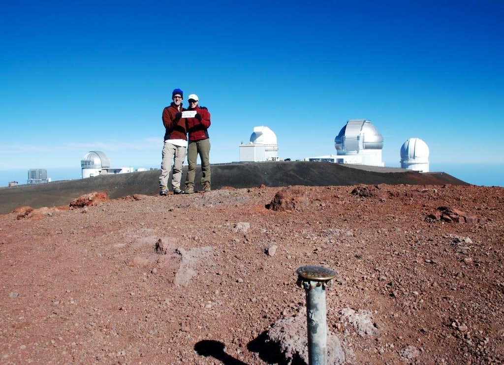 The Rowlenkes on the summit