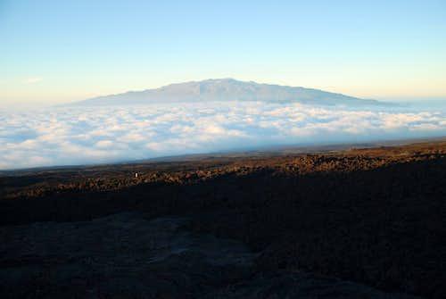 Mauna Kea fr Mauna Loa