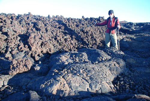 a\'a and pahoehoe lavas