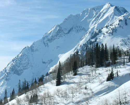Mount Superior from Alta Guard Station in Winter
