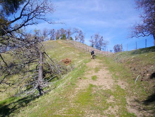 Steep section of the ridge