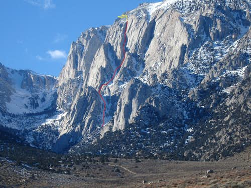 Winter Chimney Route shown during  late winter 2006