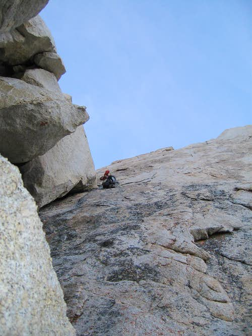 Scotty Nelson leads the last pitch of the Winter Chimney