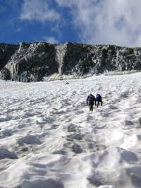 Climbing toward the East Arette