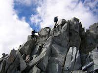 Climbing the East arrete.